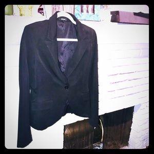 Express Structured Black Suit Jacket